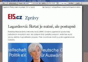 Samotný náhled tisku článku z magazínu v prohlížeči