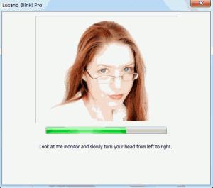 Automatické snímání obličeje programem