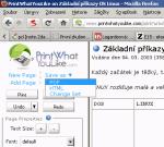 Uložení webové stránky do PDF nebo HTML