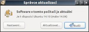 Upozornění na novou verzi Ubuntu a možnost povýšení ze 14.04