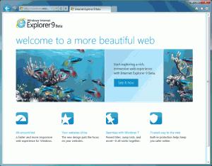 Náhled základní obrazovky prohlížeče