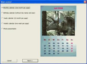 Vybrat si můžete z několika typů kalendářů