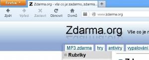 Záložka, tedy tab v Mozilla Firefoxu
