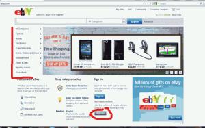 Hlavní strana portálu eBay
