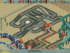 Stavba závodního okruhu autíček