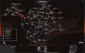 Důležitou součástí hry je i mapa se silnicemi