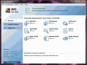 Přehledné zobrazení stavu ochrany počítače