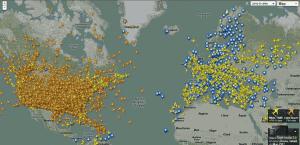 Zobrazení všech letounů, rozdělených dle barvy