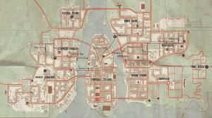 Rozlehlá herní mapa města