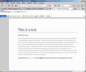 Dokument DOCX v disku SkyDrive