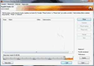 Vypalování audio souborů