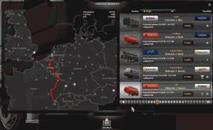 Mapa s úkoly od přepravních společností