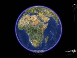 Zeměkoule v Google Earth