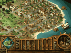 Bohatě vystavěný pirátský ostrov