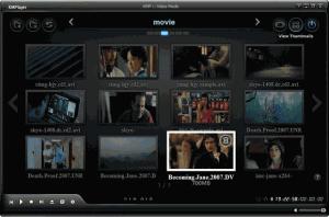 Nabídka přehrávače video souborů