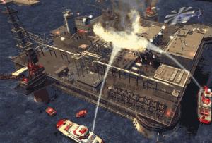 Zásah hasičských člunů na vodě