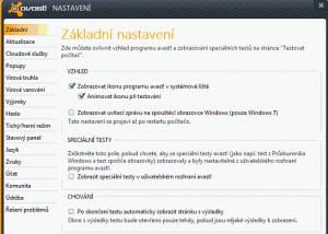 Nastavení programu Avast! Free antivirus
