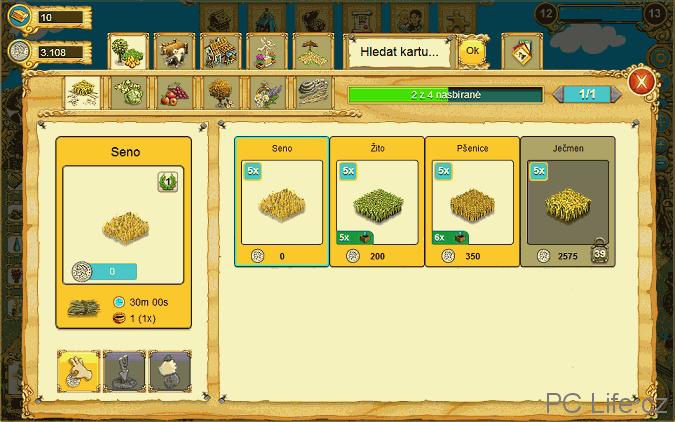 Nákup různých semen v obchodě