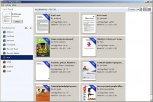 """Importované PDF soubory a za tříděné do správné """"police"""""""