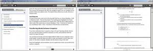 Rozdílný režim čtení EPUB e-knihy a PDF souboru