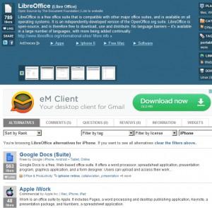 K balíku LibreOffice kupodivu nenalezen takřka rovnocenný OpenOffice.org