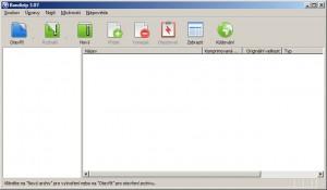 Prázdné okno Bandizip s přehlednými ikonami a jednoduchým prostředím