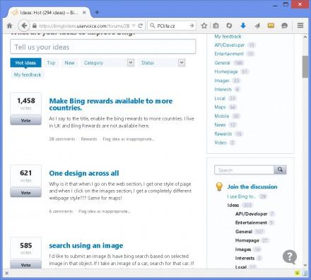 Bing a smazané požadavky