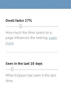 Nastavení vyhledávání Blippexu