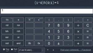 Programátorský režim nabízí vyhodnocování logických výrazů