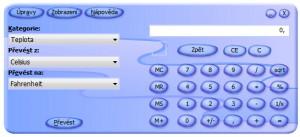 Kalkulačka+ v převodním režimu