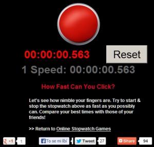 Jak rychle dokážete za sebou kliknout