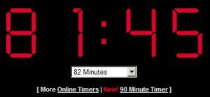 Základní odpočítávání lze nastavit maximálně na 90 minut