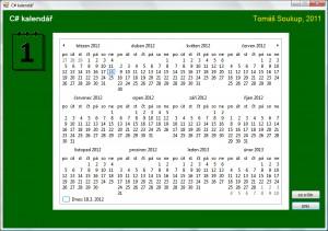 Ikona kalendáře jako další ukázka použití prostředků