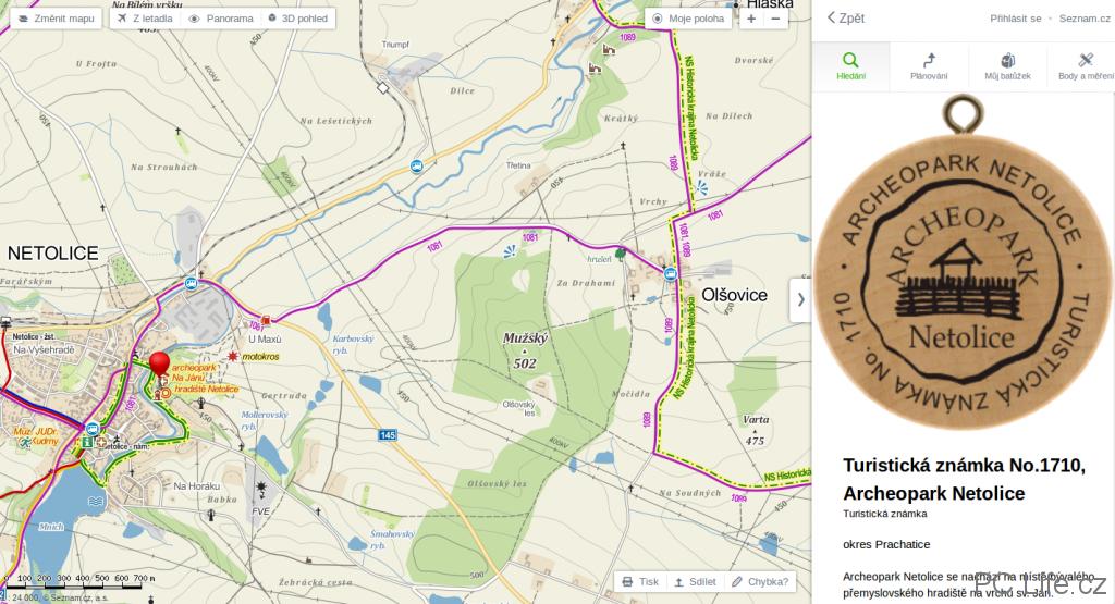 Cykloturistická mapa pro turisty a milovníky cyklistiky
