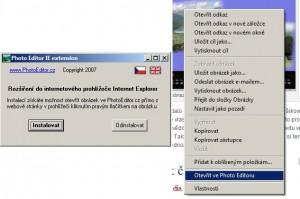 Instalace a účel doplňku k otevření obrázku ve Photoeditor.cz
