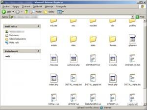 Nahraný Drupal na hostingu přes FTP