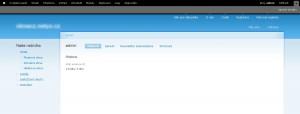 Základem Drupalu je webová administrace nabízející vše