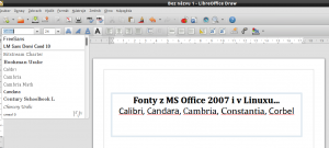 Písma z MS Office 2007 v LibreOffice v Lubuntu