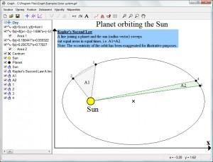 Model 2. Keplerova zákona jako příklad užití programu Graph
