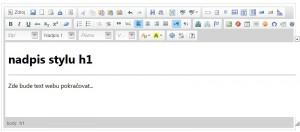 Web se dá tvořit podobně jako v textovém editoru