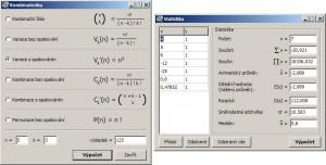 Kombinatorické a statistické výpočty