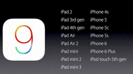 iOS 9 pro 20 zařízení včetně starších modelů