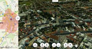 3D mapa v Kroměříži jako pohled na město