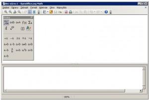 Základní okno OO Math s nabídkou prvků