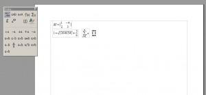 Režim zápisu vzorců v textovém procesoru Writer