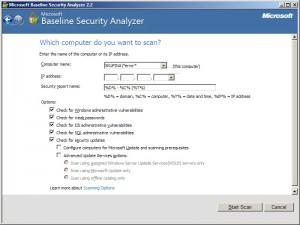 Skenování jednoho počítače a volby skenu