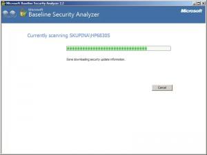 Skenuje se zabezpečení počítače