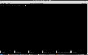 Editor GNU nano v terminálu