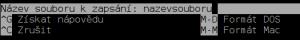 Při uložení souboru je na výběr také DOS nebo Mac formát