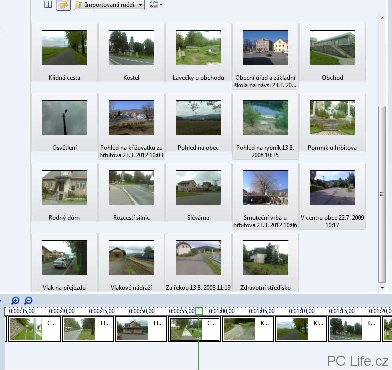 Import obrázků pro tvorbu vlastního videa
